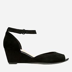 Flores Raye Black Suede womens-wide-width