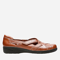 Cheyn Wale Dark Tan Leather womens-shoes