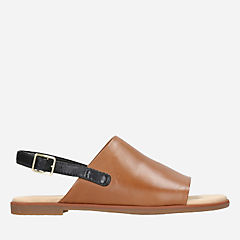 Bay Jasmine Tan Leather womens-flat-sandals