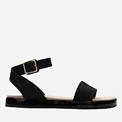 Botanic Ivy Black Combi womens-flat-sandals