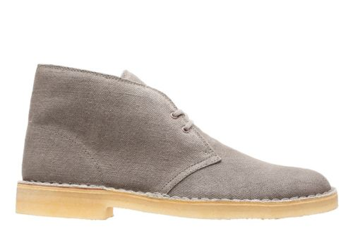 Desert Boot Taupe Canvas mens-boots
