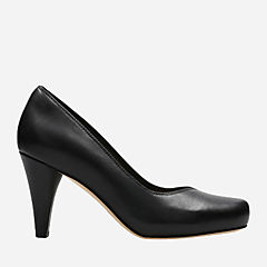 Dalia Rose Black Leather womens-heels