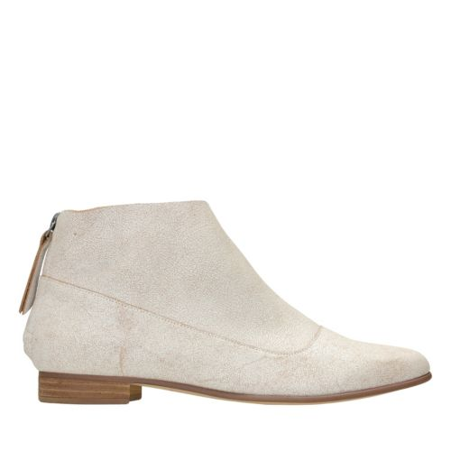 Pure Craft White Leather womens-ankle-boots