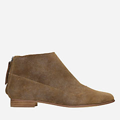 Pure Craft Light Tan Suede womens-ankle-boots