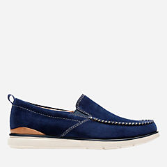 Edgewood Step Blue Suede mens-loafer-slip-on
