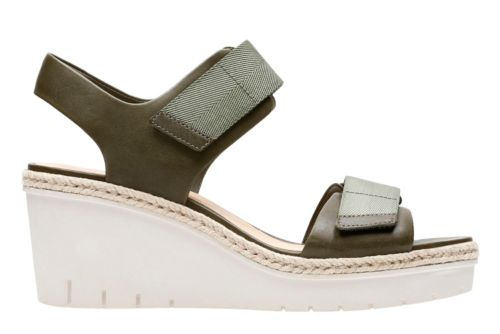 Palm Shine Khaki Leather womens-sandals-wedge