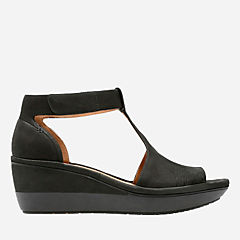 Wynnmere Avah Black Nubuck womens-sandals-wedge