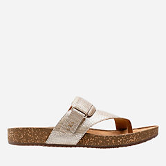 Rosilla Durham Light Gold Metallic Leather womens-flip-flops-sandals