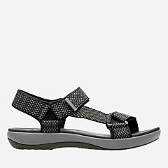 Brizo Cady Black/Grey Textile womens-sandals