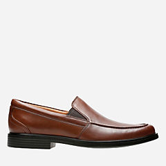 Un Aldric Slip Dark Tan Leather mens-loafer-slip-on