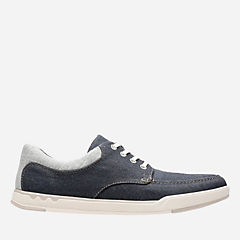 Step Isle Lace Navy Canvas mens-casual-shoes