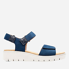 Un Karely Bay Navy Nubuck womens-unstructured