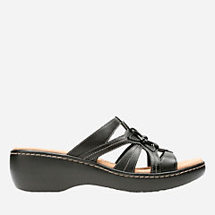 Delana Venna Black Leather womens-clogs