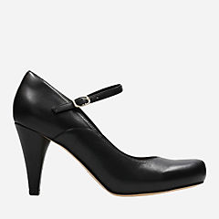 Dalia Lily Black Leather womens-heels