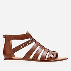 Kele Lotus Tan Leather womens-flat-sandals