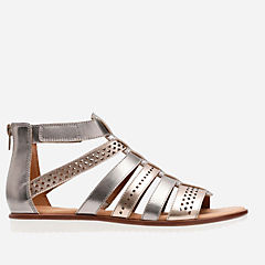 Kele Lotus Metallic Multi Leather womens-flat-sandals