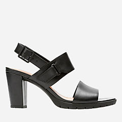 Kurtley Shine Black Leather womens-heels
