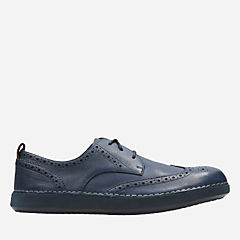 Komuter Run Navy Tumbled Leather mens-oxfords-lace-ups