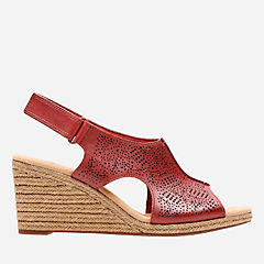 Lafley Rosen Red Leather womens-wedges