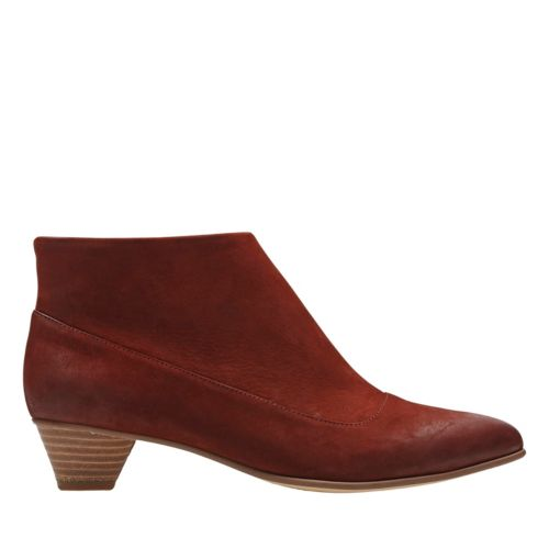 Mena Clay Rust Nubuck womens-heels