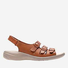 Saylie Quartz Tan Leather womens-wide-width