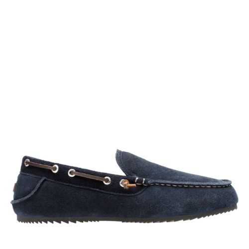 Kalel Dante Navy mens-slippers