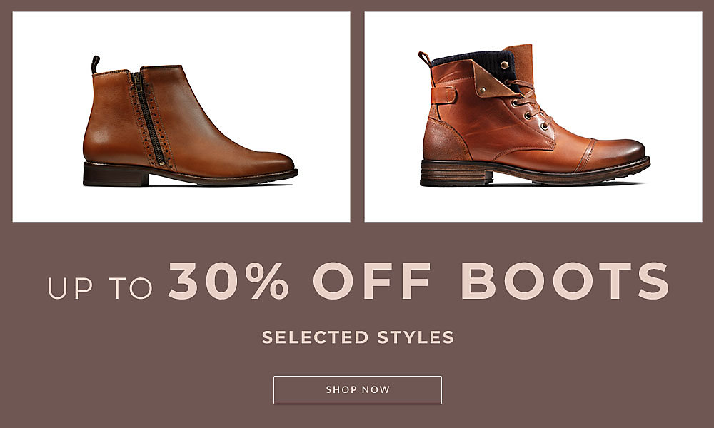 finest selection f5614 59fe4 Clarks Outlet | Discount shoes | Up to 30% off boots