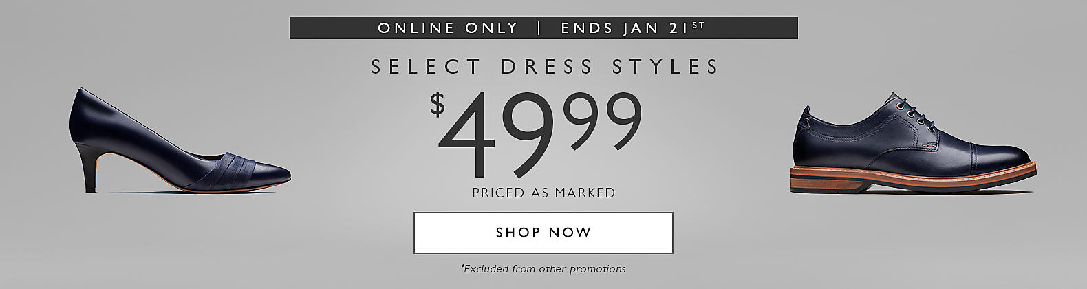 Select Dress Styles for $49.99